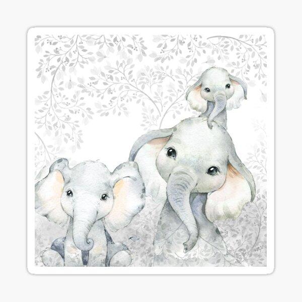 Baby elephant kids safari africa animals Sticker
