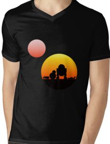 When Two Worlds Collide Mens V-Neck T-Shirt