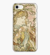 Alphonse Mucha - Lady With Daisy 1898 iPhone Case/Skin