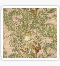 Alphonse Mucha - Lady With Daisy 1898 Sticker