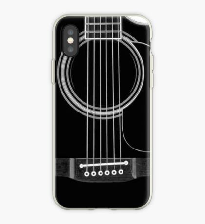 black acoustic iPhone Case