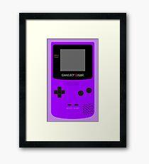 Game Boy Violet Framed Print