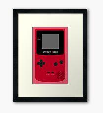 Game Boy Red Framed Print