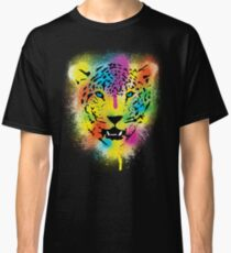 POP Tiger - Colorful Paint Splatters and Drips - Stained Canvas Art  Classic T-Shirt
