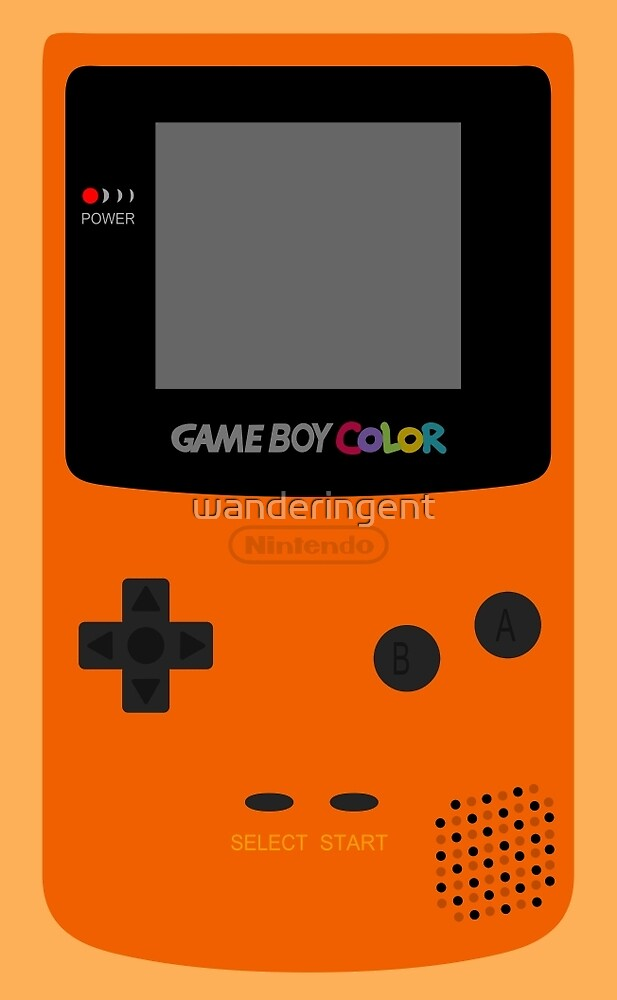 Game Boy Orange by wanderingent