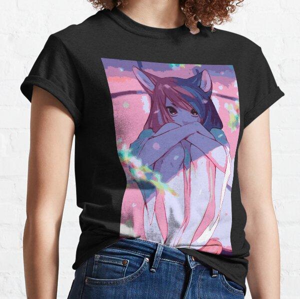 Amante de la niña gato de Japón Camiseta clásica
