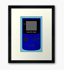 Game Boy Blue Framed Print