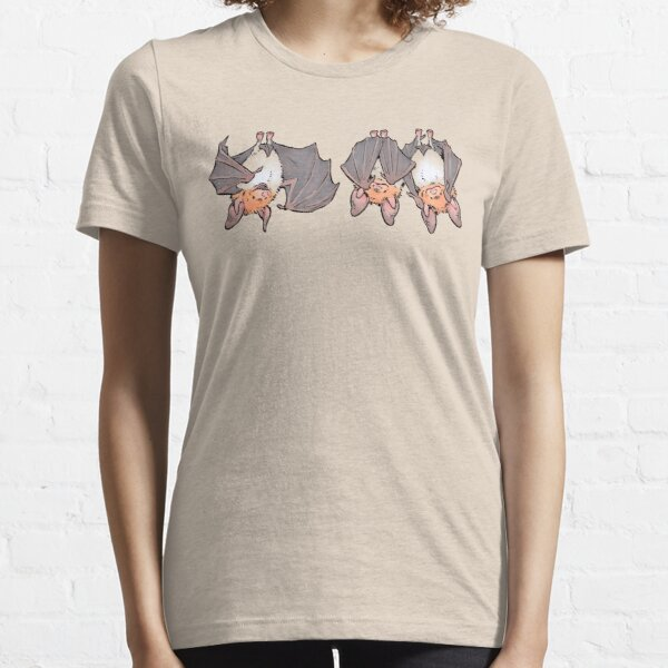 Three greater mouse-eared bats Essential T-Shirt