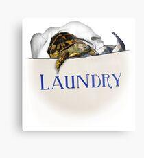 Tortoise Laundry Bag Metal Print