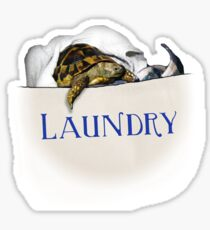 Tortoise Laundry Bag Sticker