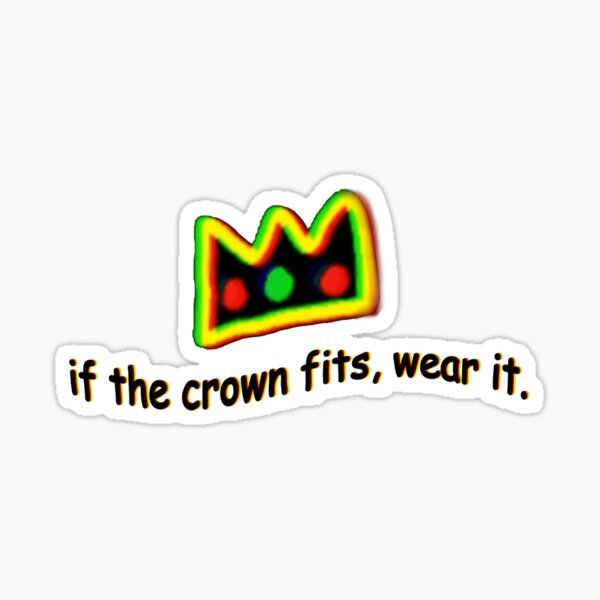 ranboo if the crown fits Sticker