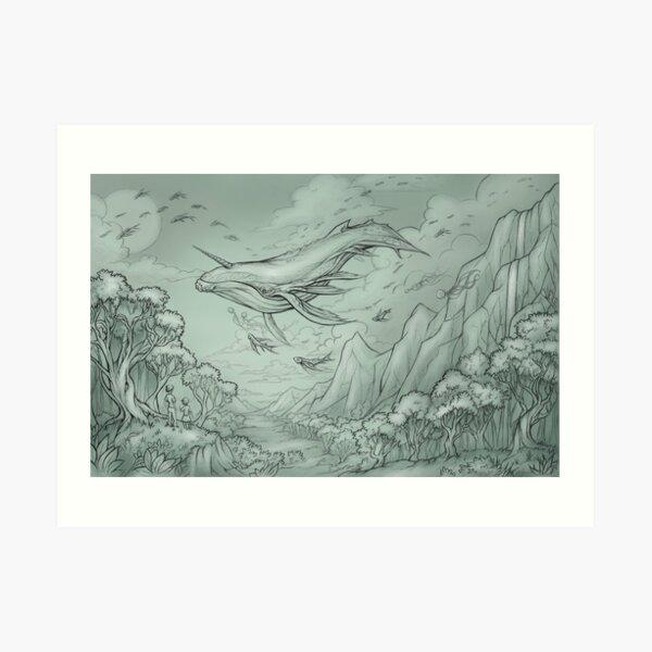 The Great Sky Whale Art Print
