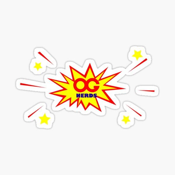 OG NERDS LOGO EXPLOSION DESIGN Sticker