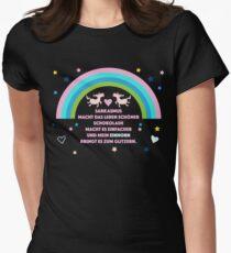 Einhorn Glitzern Womens Fitted T-Shirt