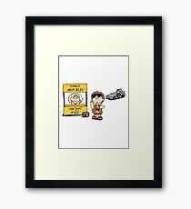 Peanuts Back 2 The Future Framed Print