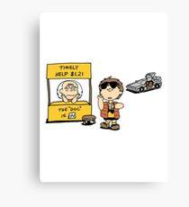 Peanuts Back 2 The Future Canvas Print