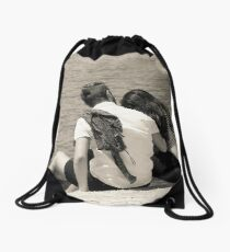 A Moment of Intimacy Drawstring Bag