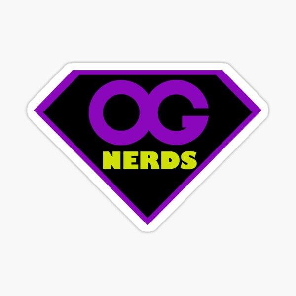 OG NERDS SUPERHERO SHIELD LOGO PURPLE Sticker