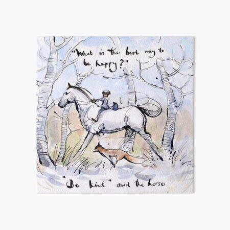 cuál es la mejor manera de ser feliz, The Boy The Mole The Fox And The Horse Shirt, Charlie Mackesy, Orientación, Amante de los libros, Lector, Amor, Regalos Lámina rígida