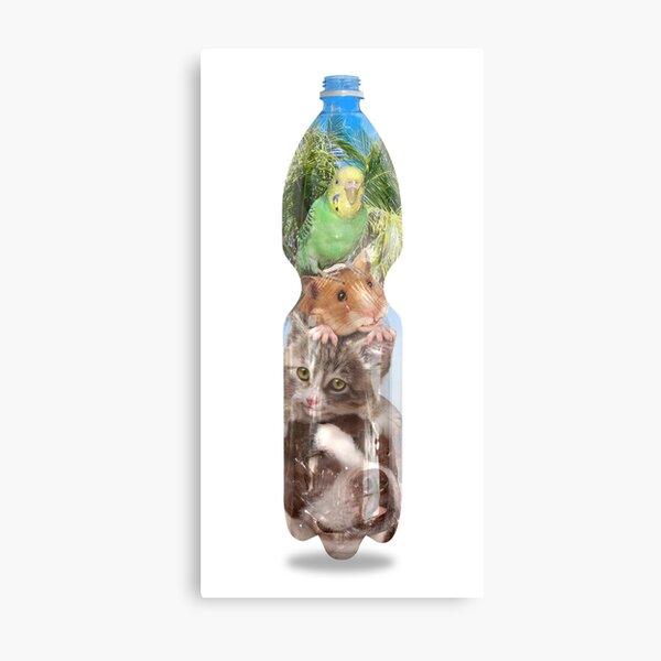 Hermetic Lockdown der Strandmusikanten in a PET-bottle by Leo Haz Metallbild
