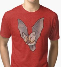 Grey long-eared bat Tri-blend T-Shirt