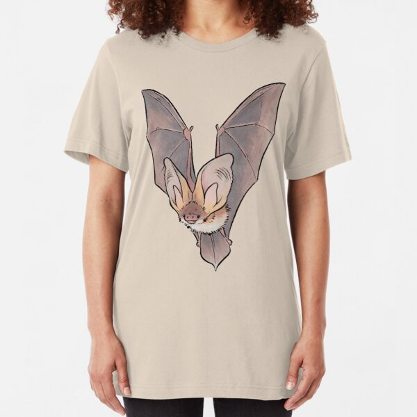 Grey long-eared bat Slim Fit T-Shirt