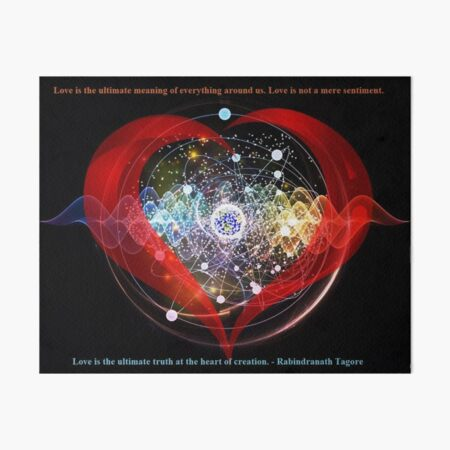 The Ultimate Meaning Of Love Art Board Print