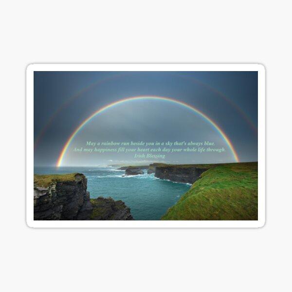 May A Rainbow Run Beside You Sticker