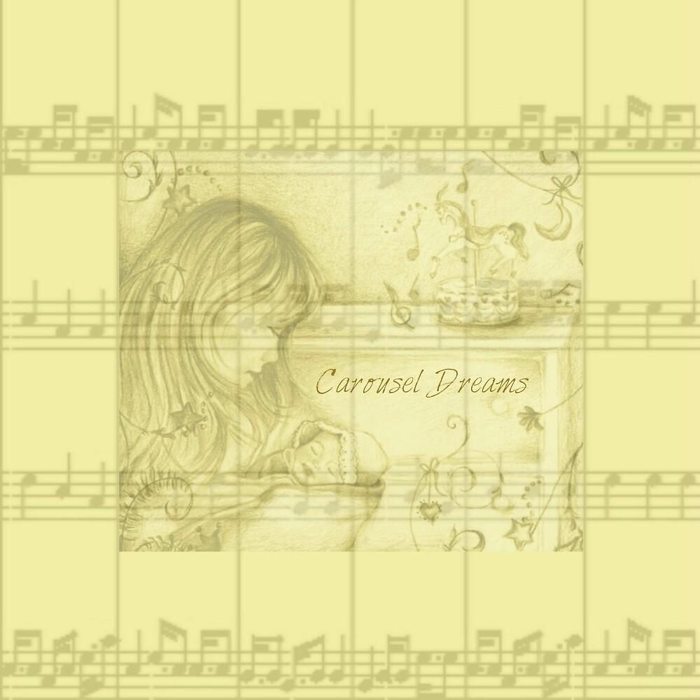Vintage Carousel Dreams yellow Sheet Music by moondreamsmusic