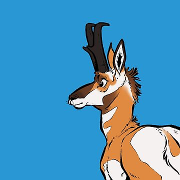 Pronghorn pillow #1 by HenriekeG