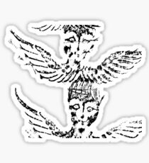 Black & White Abstract Angels Sticker