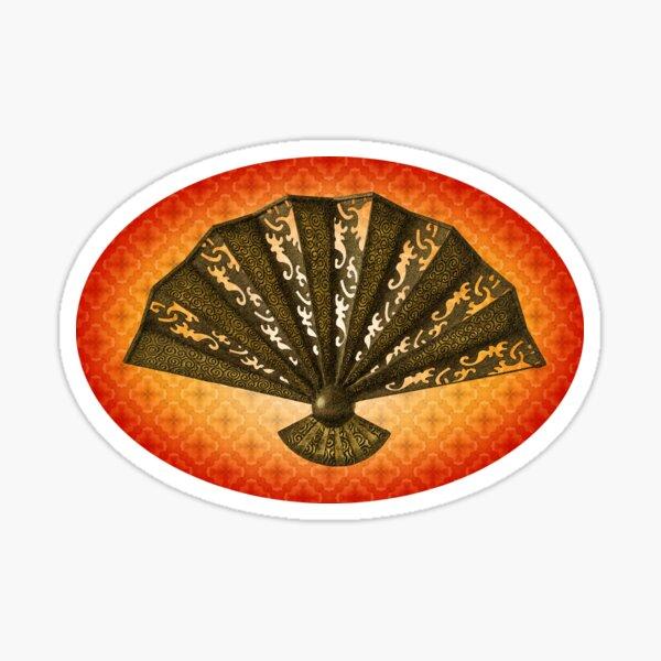 Ornamental Fan digital art Sticker