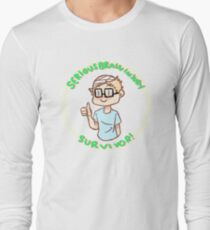Serious Brain Injury Survivor sticker (for my brother) Long Sleeve T-Shirt