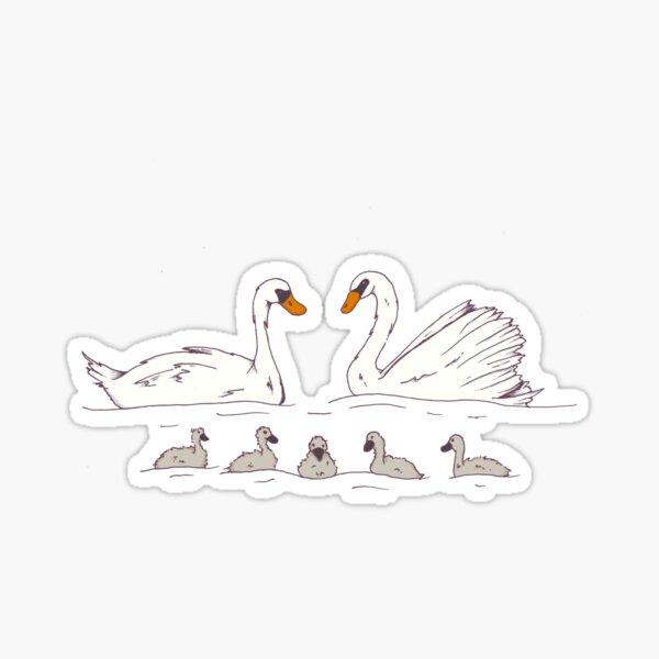 Seven Swans-a-Swimming Sticker