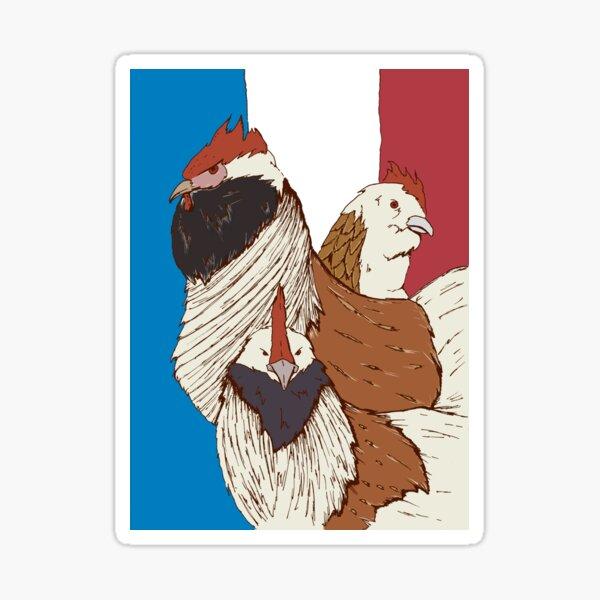 Three French Hens Sticker