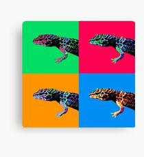 Warhol Gecko Canvas Print
