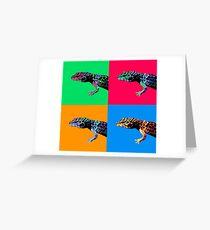 Warhol Gecko Greeting Card