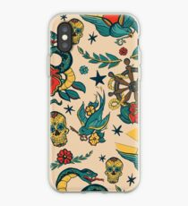 Punk Tattoo Muster Design und Illustration iPhone-Hülle & Cover