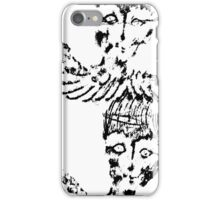Black and White Abstract Art Duvet Cover iPhone Case/Skin