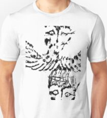 Black & White Abstract Angels Unisex T-Shirt