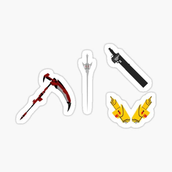 team rwby: weapons Sticker