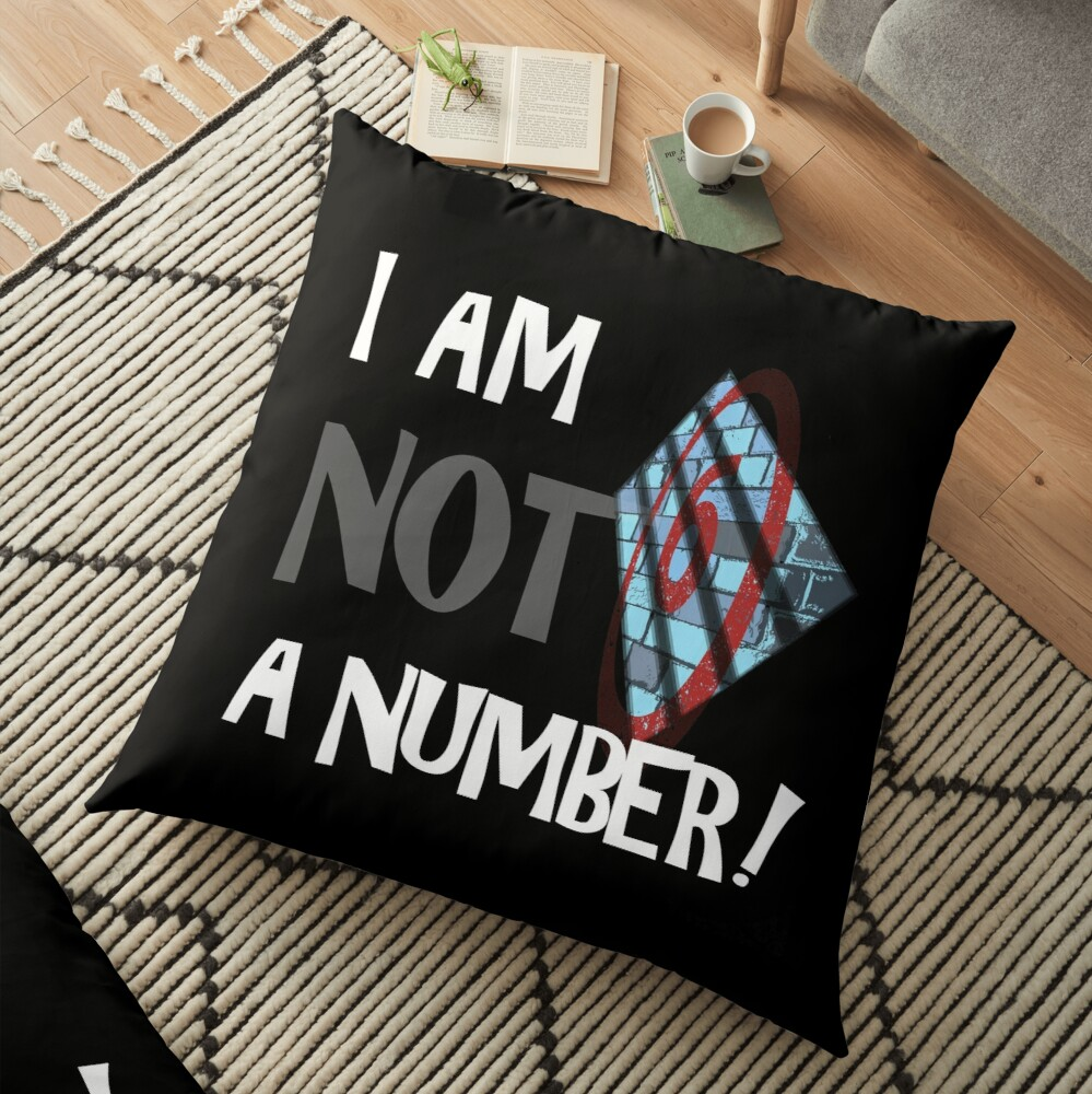 THE PRISONER I AM NOT A NUMBER Floor Pillow