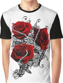 Red roses with pearls Graphic T-Shirt