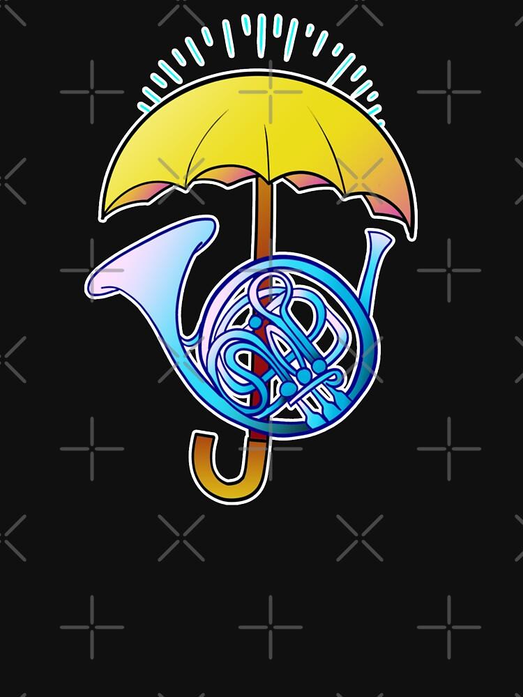 Blaues Horn Umbrela von xcharls1