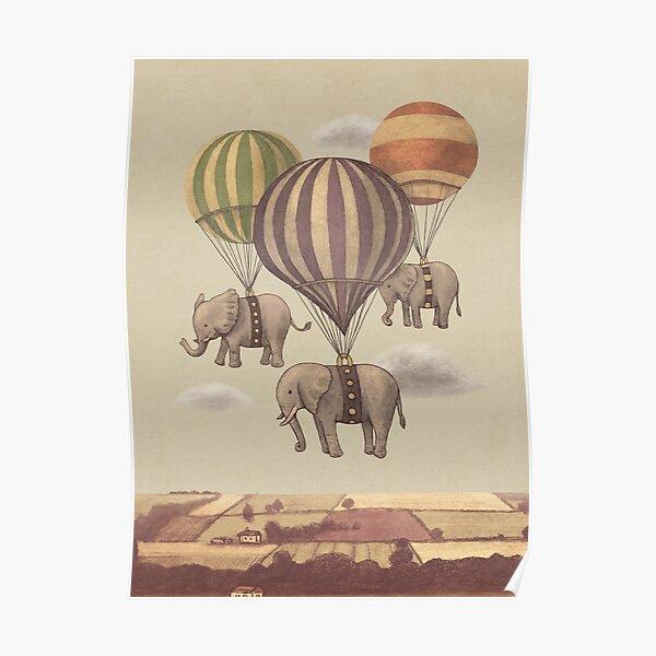 Vol des éléphants Poster