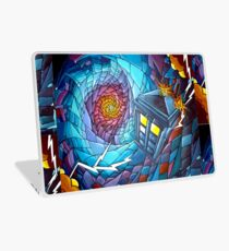 Tardis stained glass style  Laptop Skin