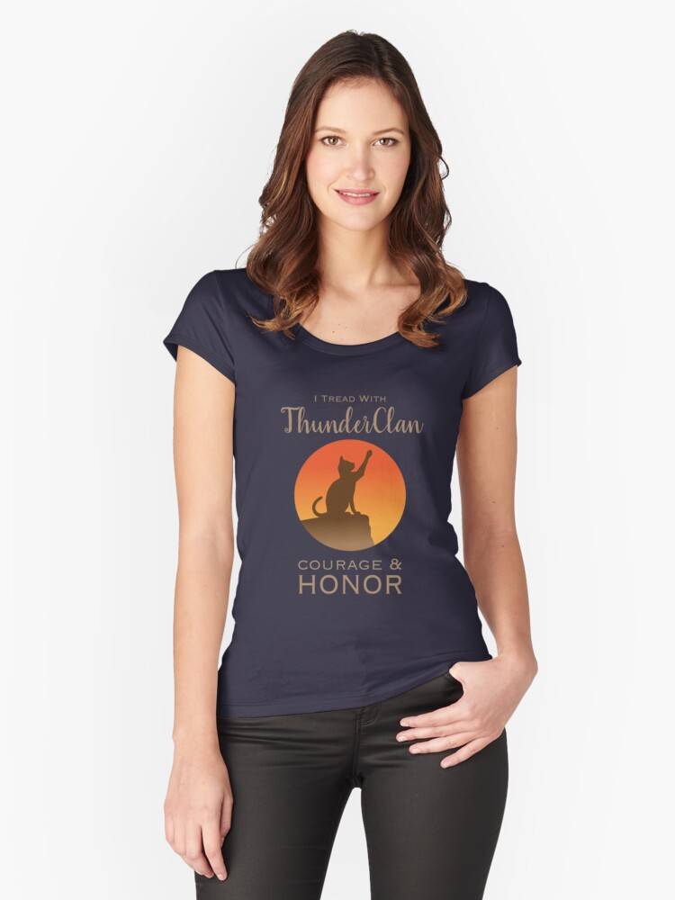 ThunderClan Pride Women's Fitted Scoop T-Shirt Front