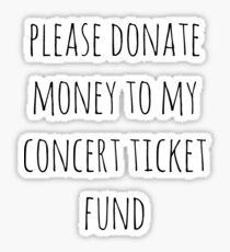 Concert Ticket Fund Sticker