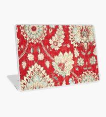 Vinilo para portátil Floral, Brocade, Tapestry, Bold Red Gold Marroquí Imprimir