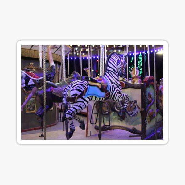 Zebra Carousel Photo  Sticker